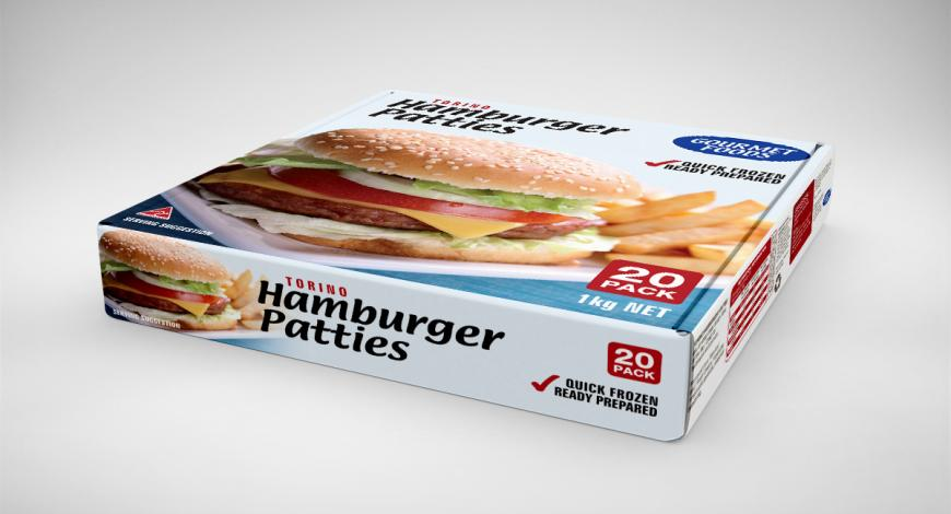 Hamburger Box Package